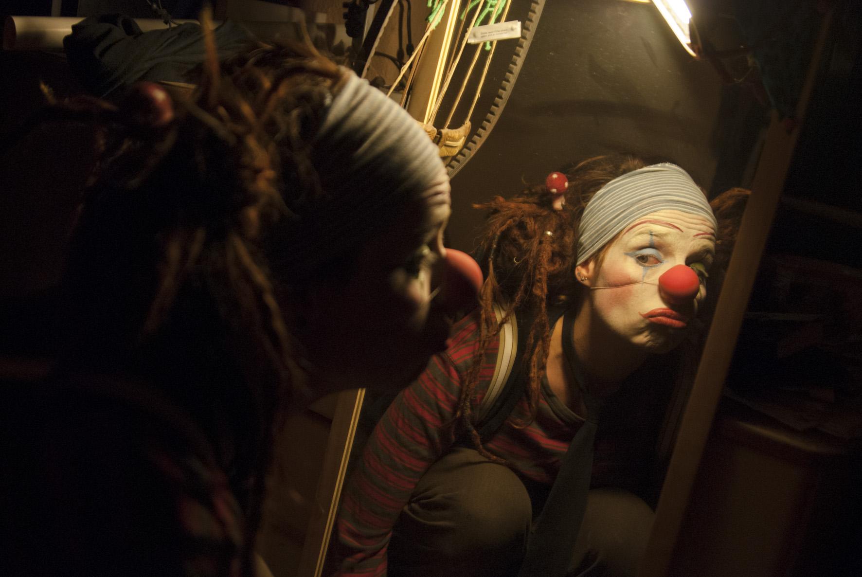 Ein Clown entsteht